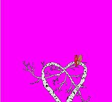 Sweet Love - iphone Case (hot pink) by Carol Knudsen