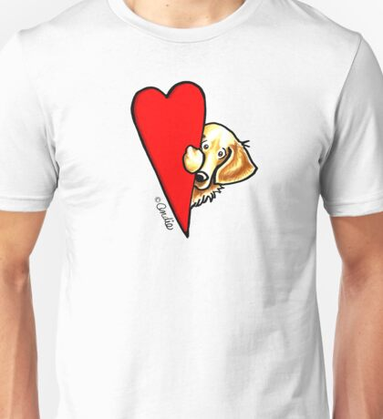 Love Golden Retrievers Unisex T-Shirt