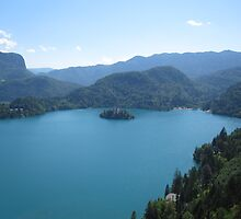 Lake Bled from Bled Castle by stoo61