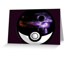 The World In A Pokeball Greeting Card