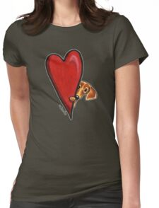 Love Dachshunds Womens Fitted T-Shirt