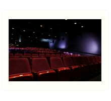 Empty Seats At A Movie Theater Art Print
