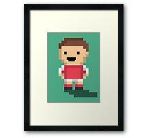 Tiny Goalie - Red Framed Print