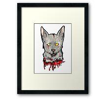 Bloody Wolf Framed Print