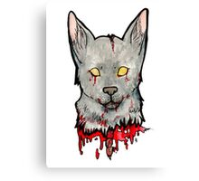 Bloody Wolf Canvas Print