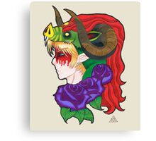 The Heroes Trophy Demon King Canvas Print