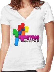 ETRIS CONSTRUCTION CO Women's Fitted V-Neck T-Shirt