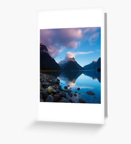 Milford Sound, New Zealand Greeting Card