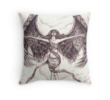 Wing Goddess Throw Pillow