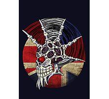 Punk Skull - Union Jack BG Photographic Print