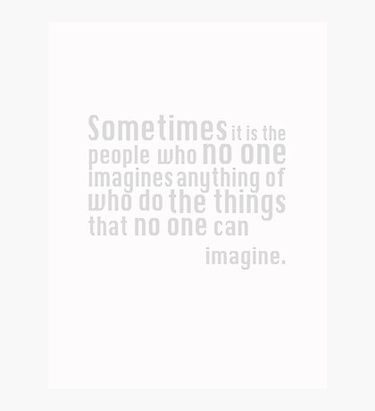 The Imitation Game - Quote Photographic Print