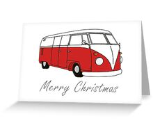 Merry Christmas Kombi Lovers! Greeting Card