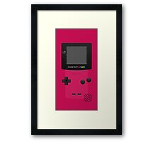 Pink Nintendo Gameboy Color Framed Print
