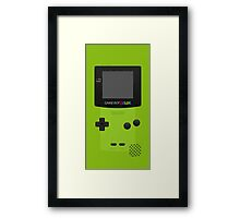 Green Nintendo Gameboy Color Framed Print