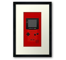 Red Nintendo Gameboy Color Framed Print