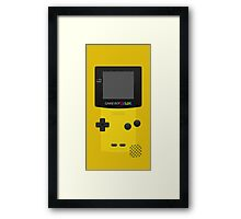 Yellow Nintendo Gameboy Color Framed Print