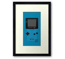 Blue Nintendo Gameboy Color Framed Print