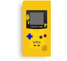 Pokemon Pikachu and Pichu Nintendo Gameboy Color Canvas Print