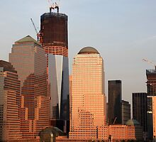 The Freedom tower under contruction.  by adarchphotog