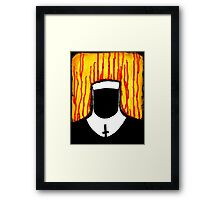 Faceless Nun Framed Print