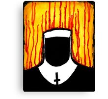 Faceless Nun Canvas Print