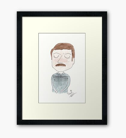 Parks and Recreation - Ron Swanson Framed Print
