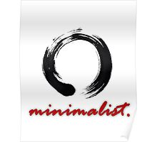 Minimalist Enso (Red) Poster