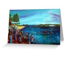 Bulcock Boardwalk twilight Markets- Caloundra Greeting Card