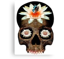 Lotus Skull Canvas Print