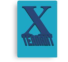 Doctor Who: X - Tennant Canvas Print