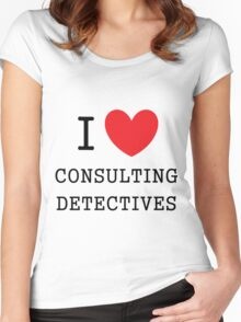 I Love Consulting Dectives Women's Fitted Scoop T-Shirt
