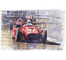 Lancia D50 Monaco GP 1955  Poster