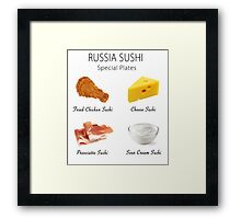 Russia Sushi's Special Plates Framed Print