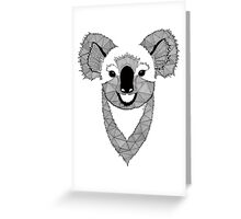 Koala black and white Greeting Card