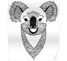 Koala black and white Poster