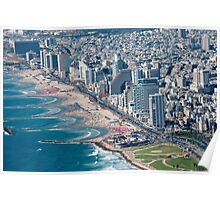 Aerial Photography of Tel Aviv coast line as seen from the south Poster