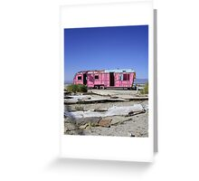 Where are the plastic flamingoes?  Greeting Card