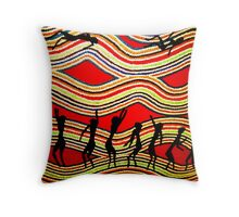 Dancing in the Outback Throw Pillow