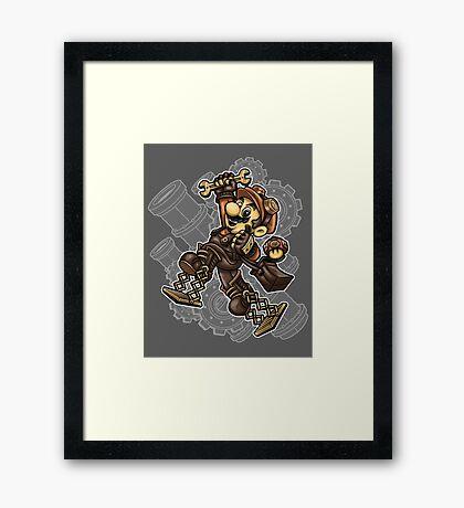Super Punk Bros Framed Print