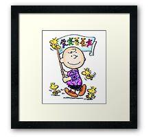 Wave that flag Charlie Brown Framed Print