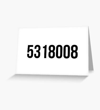 5318008 Greeting Card
