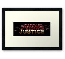 Raging Justice Logo Framed Print