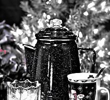 Morning Coffee Before Decorating Christmas Tree by Sherry Hallemeier
