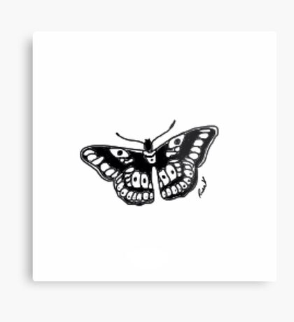 Butterfly Tattoo Metal Print