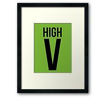 High Five Roman Numeral  Framed Print