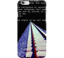 tracks iPhone Case/Skin