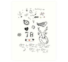Louis Tattoos Art Print