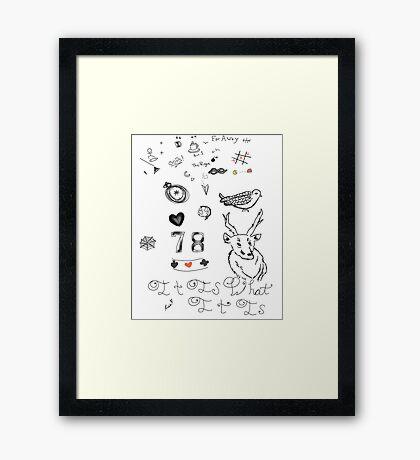 Louis Tattoos Framed Print