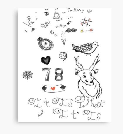 Louis Tattoos Canvas Print