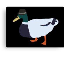 Fedora Duck Canvas Print
